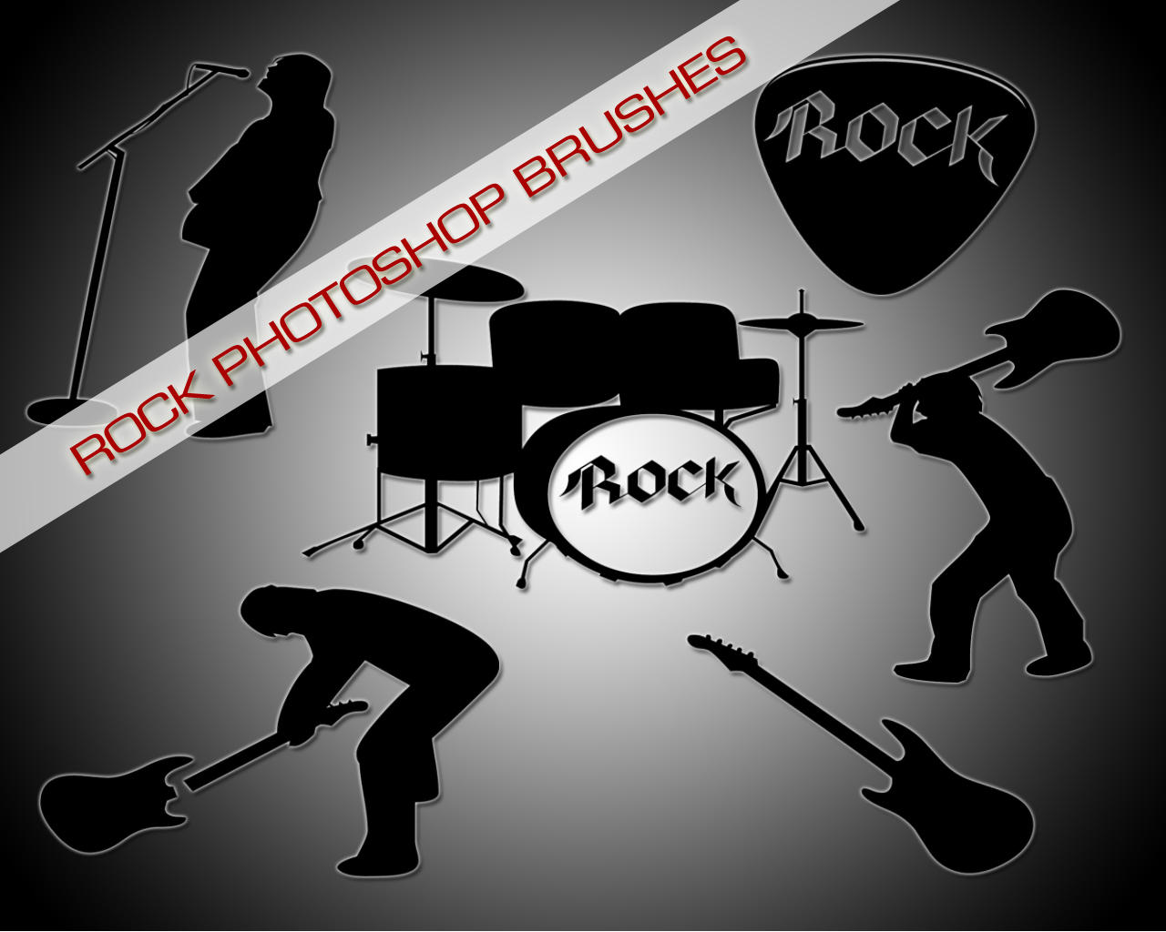 Rock Photoshop Brushes by DOMDESIGN