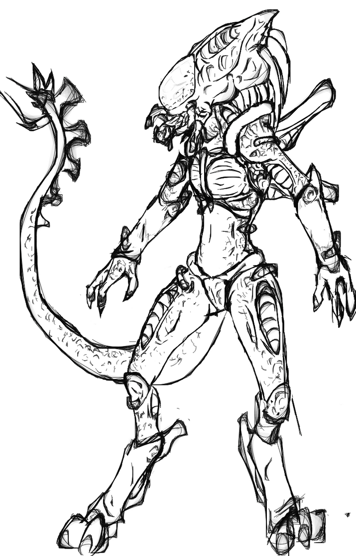 Alien xenomorph coloring pages sketch coloring page for Xenomorph coloring pages