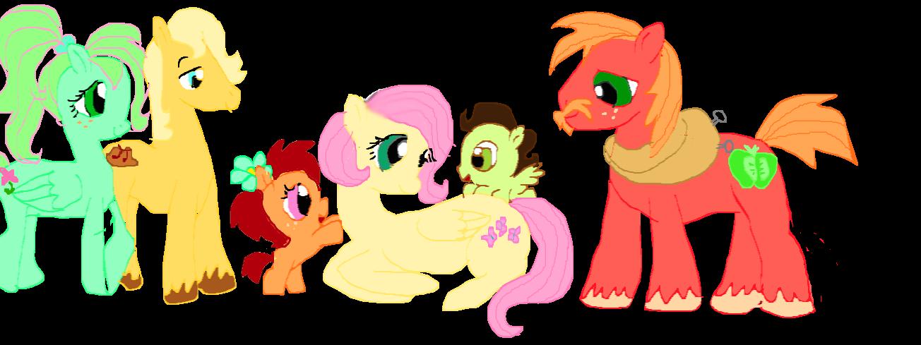 my little pony fluttershys family