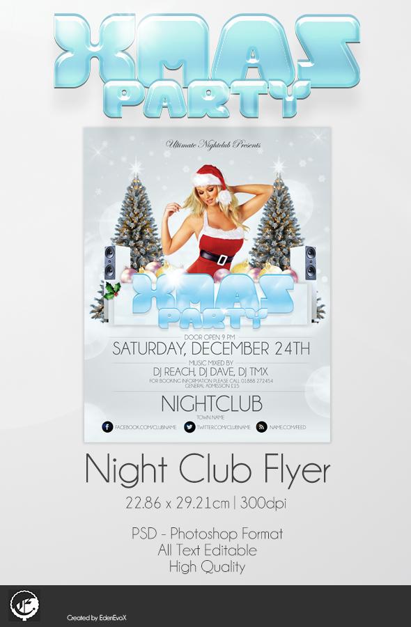 Xmas Party Flyer PSD Download by EdenEvoX