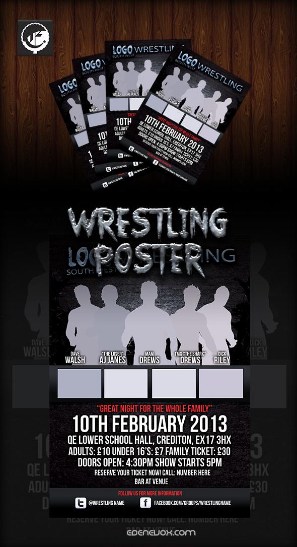 wrestling poster psd by edenevox on deviantart