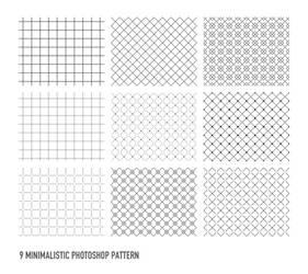 9 Free Photoshop Pattern by dude2k