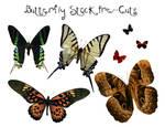 Pre-Cut Butterfly Stock