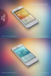 FREE weather app design (.psd)