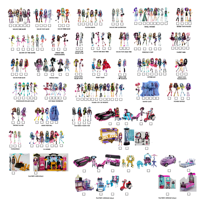 New Monster High Visual Checklist Pdf By Backindrac On