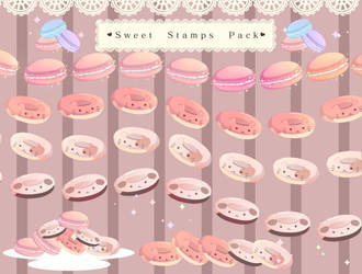 Free Lace and sweets brushes [Tutorial now up] by HonoBread