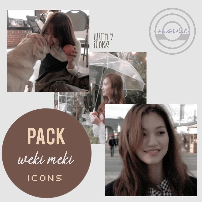 [PHOTOPACK #OO1] Weki Meki Icons by Snowiie0