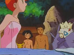 Misty's spa soaking fail gif from Pokemon ep058