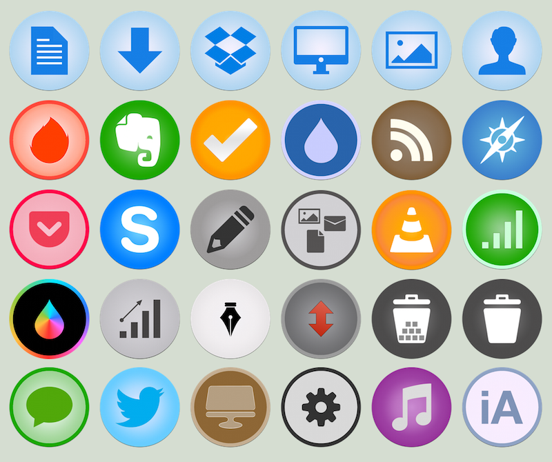 iOS7 -ish Style Icons for OS X [UPDATED X2] by MatiasAM