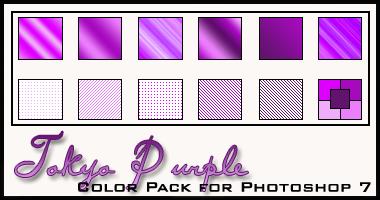 Tokyo Purple Color Pack by redbonniekidd