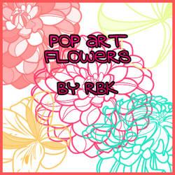 Pop Art Flowers by redbonniekidd