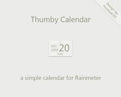 Thumby Calendar Rainmeter by murasaki55