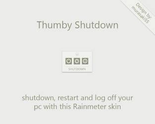 Thumby Shutdown Rainmeter by murasaki55