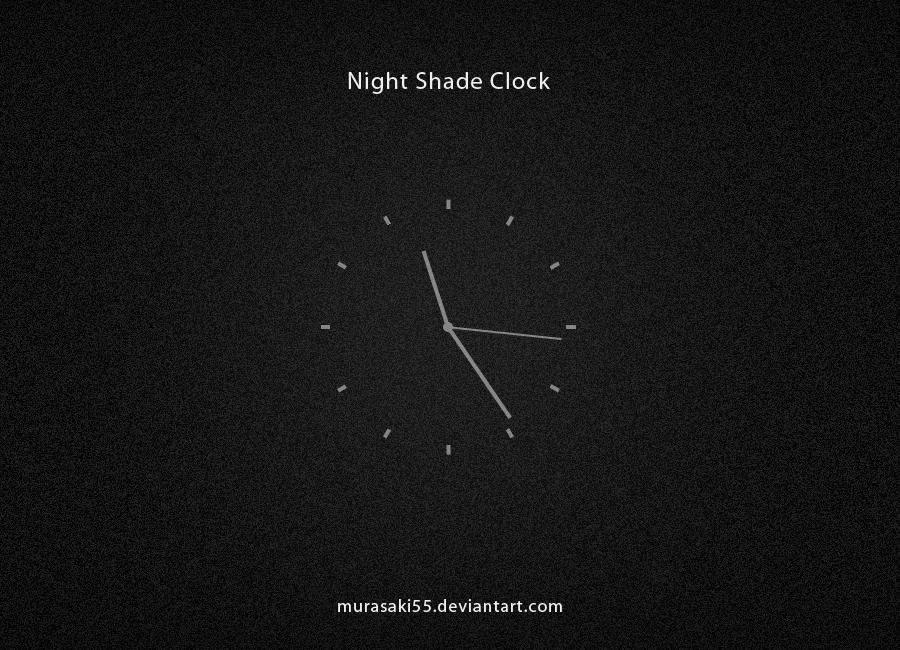 Night Shade Clock by murasaki55