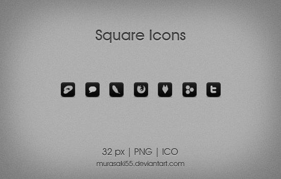 Square Icons by murasaki55