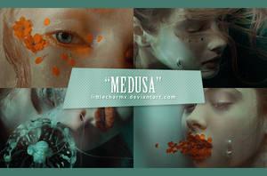 PSD Coloring #44: Medusa by LittleCharmx
