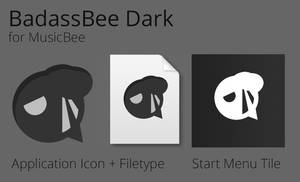 BadassBee Dark + Tile for MusicBee by JMoss90