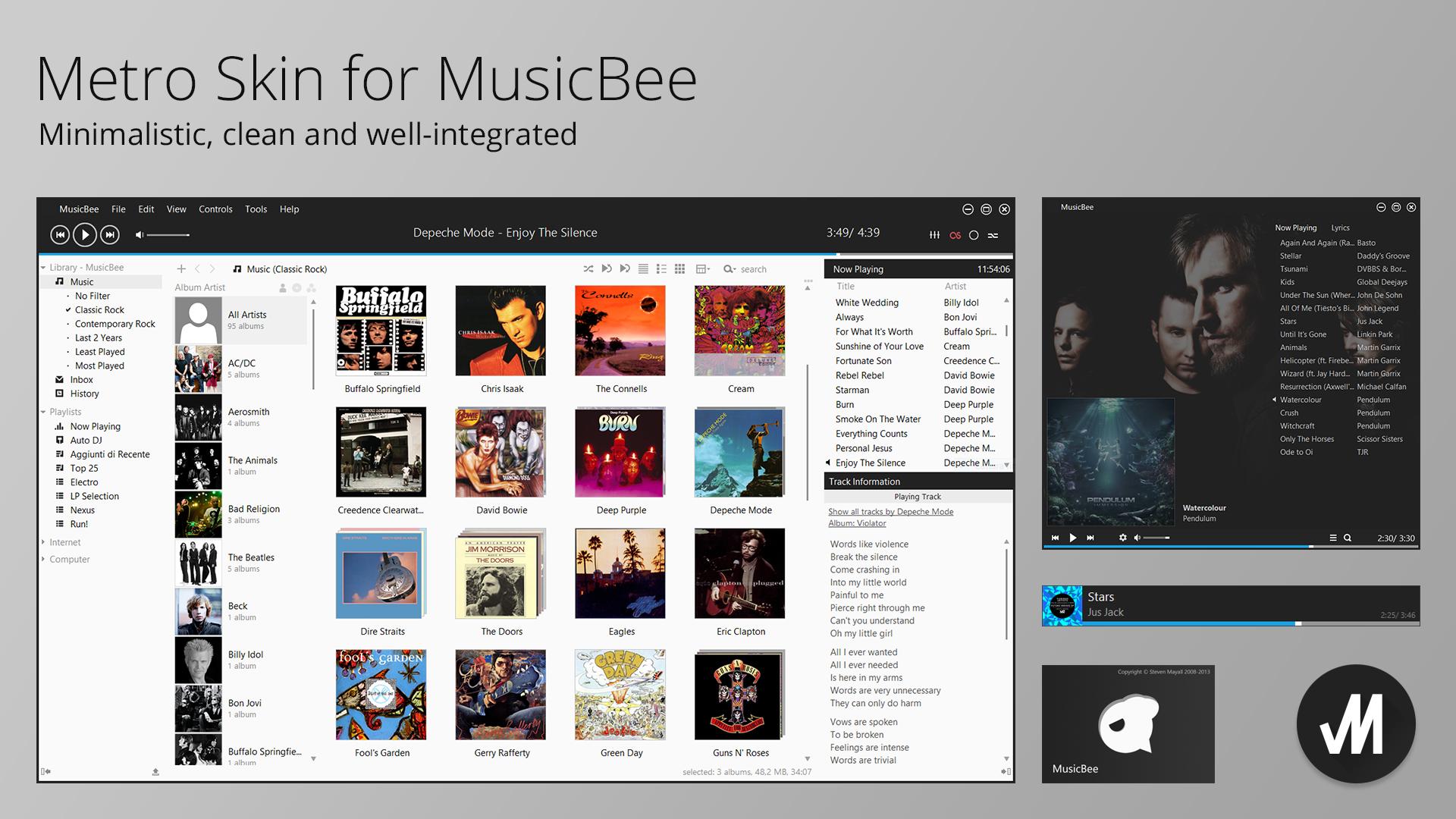 Metro Skin for MusicBee Media Player by JMoss90 on DeviantArt