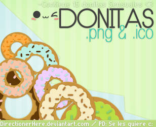 PACK Donitas de Sabores:3 - PNG e ICO by DirectionerHere