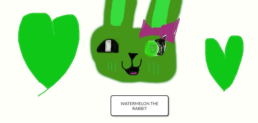 Watermelon The Rabbit (my FNaF OC!!!) by BlueberryLover101MTW