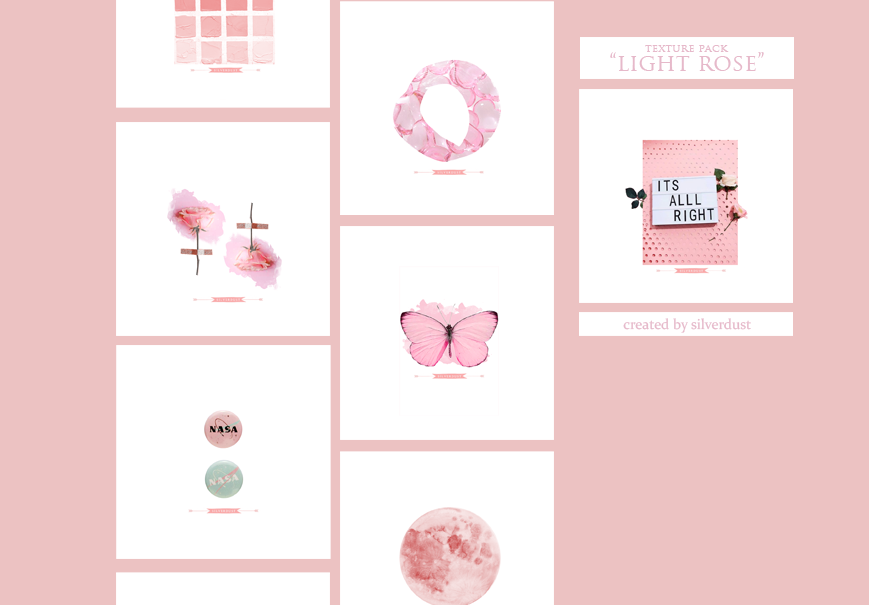 Texture pack - Light Rose| SilverDust by Marevasart