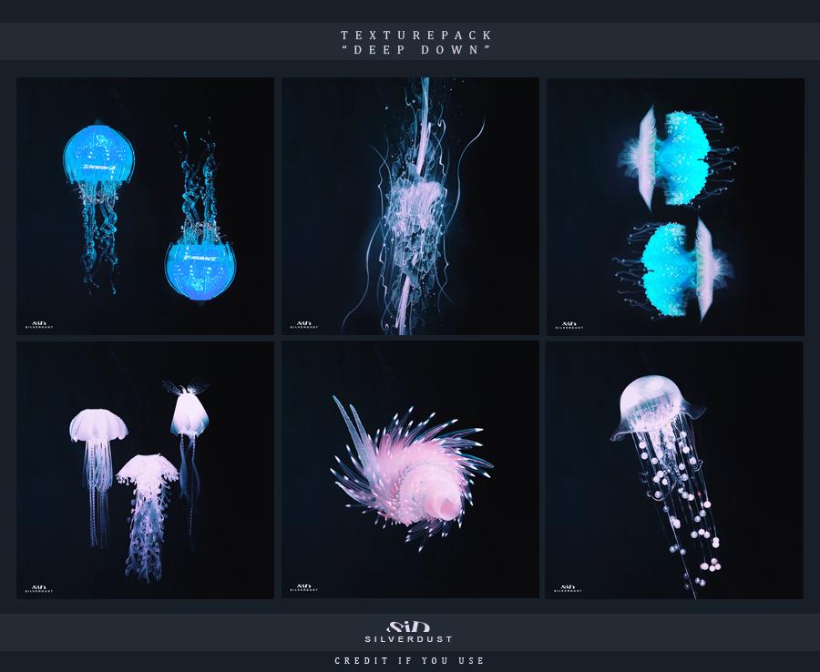 Texturepack - Deep Down   by SilverDust by Marevasart