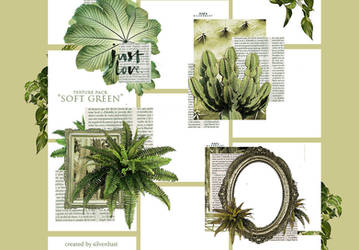 Texture pack - Soft Green | SilverDust by heymaryjean