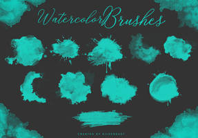 Watercolor Brushes | by  SilverDust