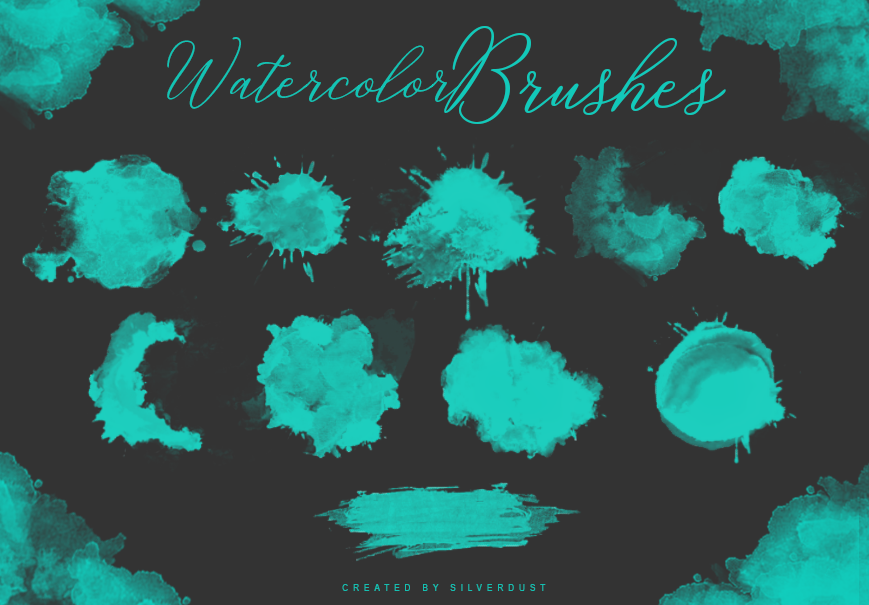 Watercolor Brushes | by  SilverDust by heymaryjean