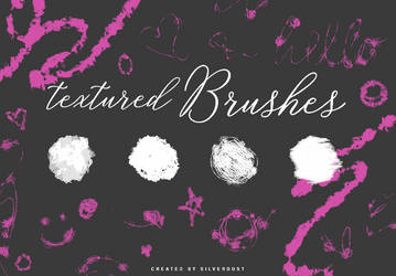 Textured Brushes   by  SilverDust by heymaryjean