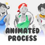 Chun-Li Cammy Sakura Animated Process!