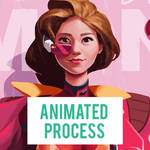 Animated Process for Fangirl Outfit Lucky Lemonade
