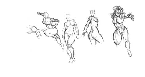 Lady Pose Drawings by Amani-the-Wise