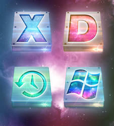 Deep Space OS X Drive Icons
