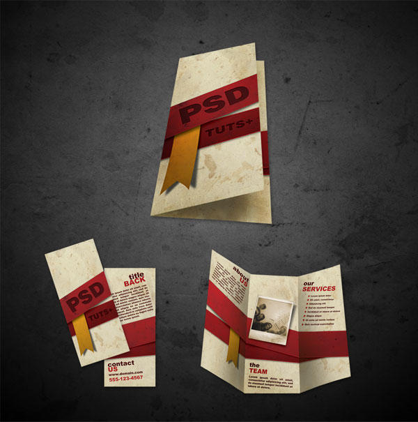 Free Brochure Templates .psd files front and back by ...
