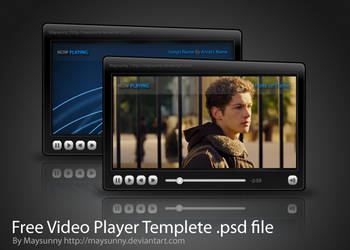 Free Video Player Templete .psd file