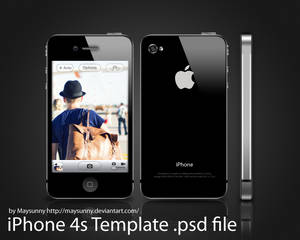 Free iPhone 4s Template .psd file