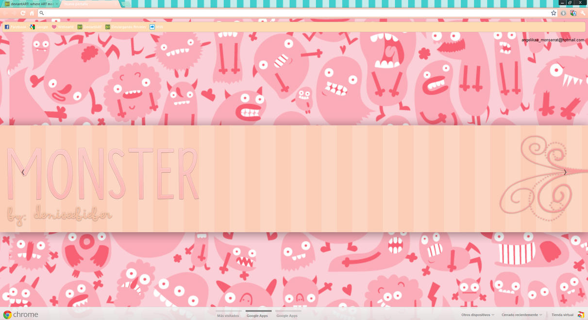 Tema Google Chrome Monster Cute by DeniseeBieber
