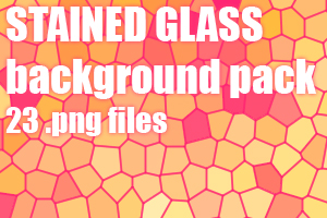 Stained glass dA background pack by UszatyArbuz