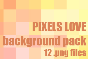 Pixels love dA background pack by UszatyArbuz