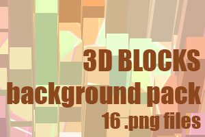 3D blocks dA background pack by UszatyArbuz