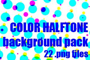 Color halftone dA background pack by UszatyArbuz