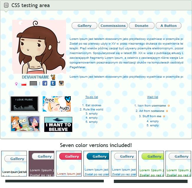 css profile help codes