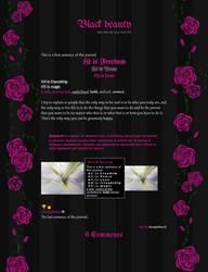 (Installable) Black beauty journal skin by UszatyArbuz