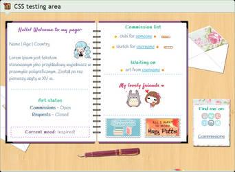 Custom box: Spiral notebook devID (CSS)
