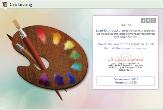 Custom box: Palette Navigation +Box (CSS) by UszatyArbuz