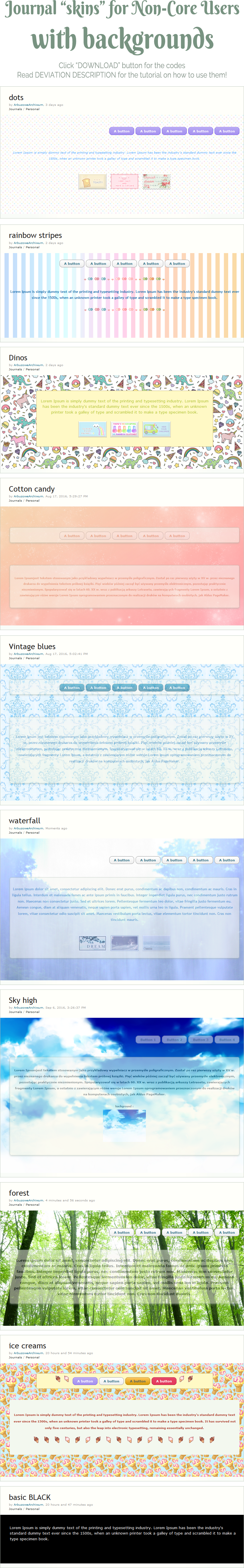 Journal 'skins' for NON-CORE users with background by UszatyArbuz
