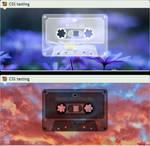 Custom box: Minimalist mixtape music player (CSS)
