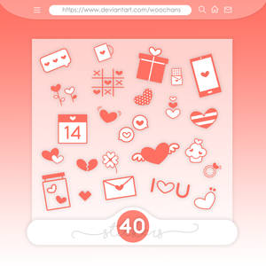 #23 PNG STICKERS PACK [Red and White Hearts]