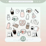 #33 PNG STICKERS PACK [Coffee Shop Themed]